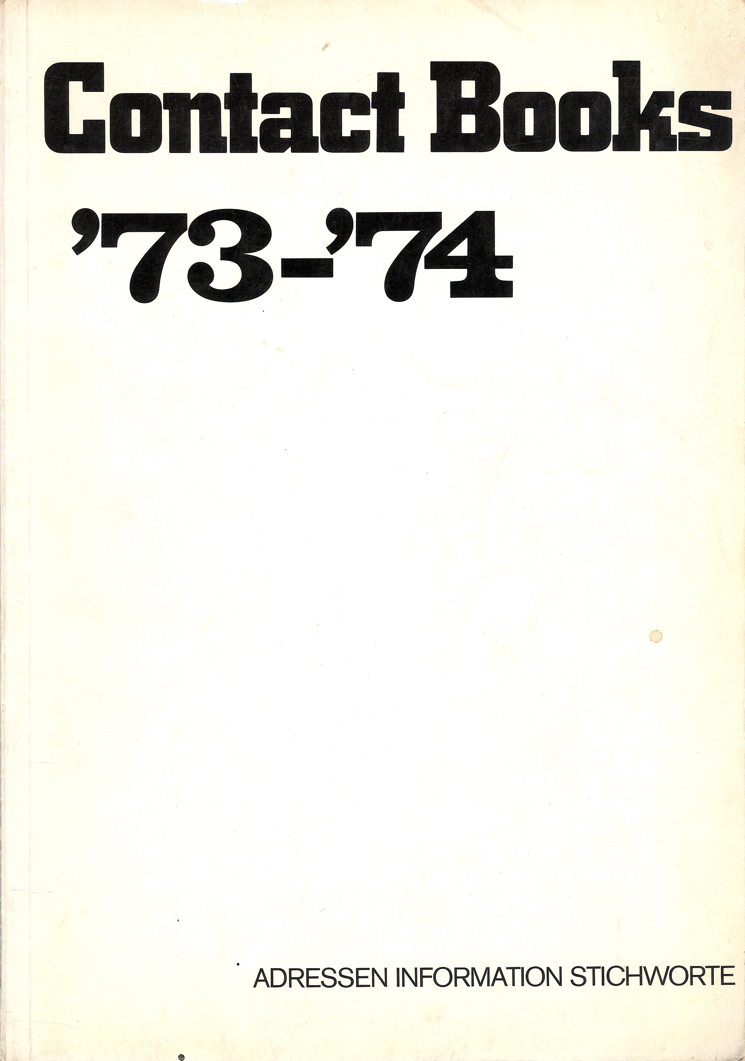 1973.4 FEHLT Contact Books 1973
